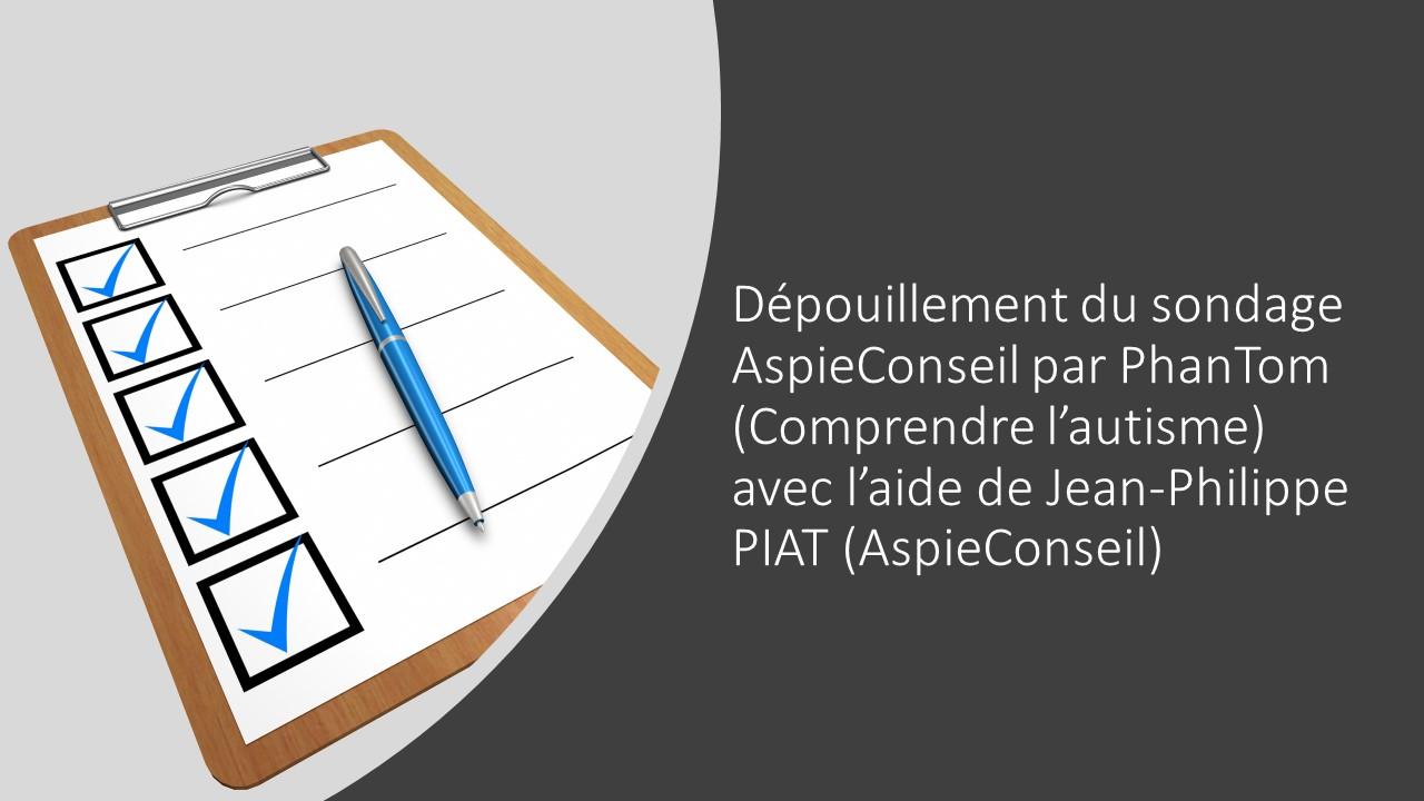 Dépouillement du questionnaire AspieConseil (Introduction)